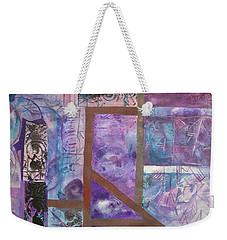 Purple Abstract Weekender Tote Bag