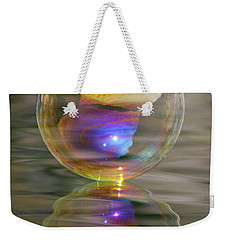 Weekender Tote Bag featuring the photograph Bubble Bliss by Cathie Douglas