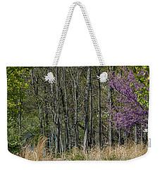 Purple And Green Weekender Tote Bag