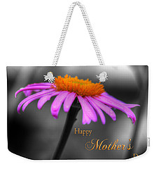 Weekender Tote Bag featuring the photograph Purple And Orange Coneflower Happy Mothers Day by Shelley Neff