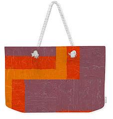 Purple And Orange Square Study Weekender Tote Bag