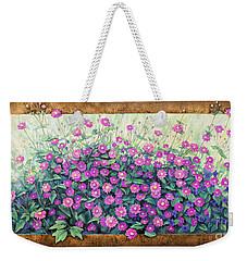 Purple And Pink Flowers Weekender Tote Bag