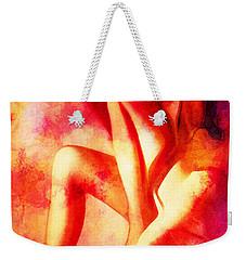 Purple And Red Woman Weekender Tote Bag