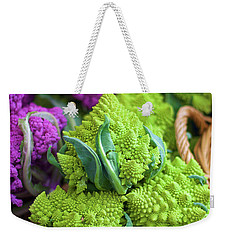 Purple And Romanesco Cauliflower Weekender Tote Bag