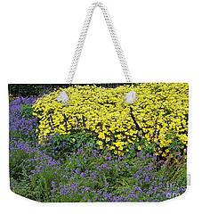 Purple And Yellow Flower Compound Weekender Tote Bag