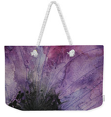 Weekender Tote Bag featuring the painting Purple Anemone 2 by Marna Edwards Flavell