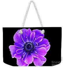 Purple Anemone Flower Weekender Tote Bag