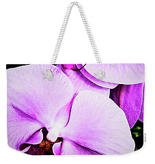 Weekender Tote Bag featuring the photograph Purple Angel by Jessica Manelis