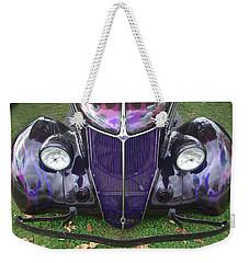 Purple Antique Ford Weekender Tote Bag