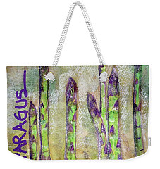 Purple Asparagus Weekender Tote Bag by Kim Nelson