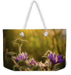 Purple Aster Glow Weekender Tote Bag