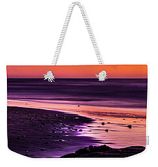 Purple Beach Weekender Tote Bag