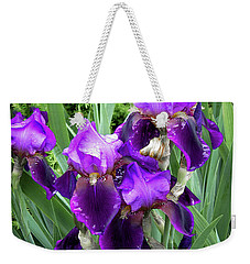 Purple Bearded Irises Weekender Tote Bag