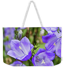 Purple Bell Flowers Weekender Tote Bag by Joann Copeland-Paul