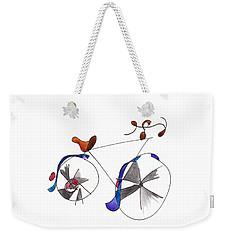 Purple Bicycle Weekender Tote Bag