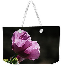 Weekender Tote Bag featuring the photograph Purple Blessing by Evelyn Tambour