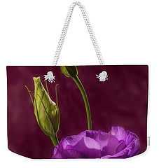 Purple Blossom And Buds Weekender Tote Bag