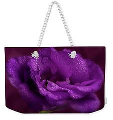 Purple Blossom Wit Morning Dew Weekender Tote Bag