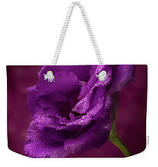Purple Blossom With Morning Dew Weekender Tote Bag