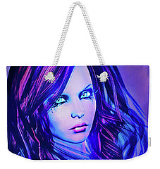 Purple Blue Portrait Weekender Tote Bag