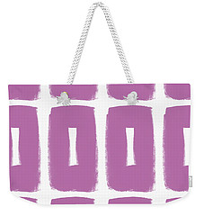 Purple Boxes- Art By Linda Woods Weekender Tote Bag