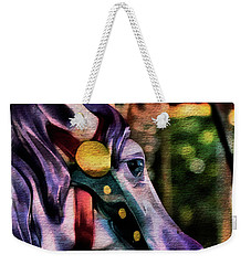 Purple Carousel Horse Weekender Tote Bag