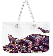 Purple Cat Weekender Tote Bag