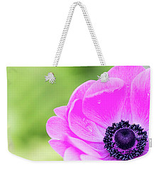 Weekender Tote Bag featuring the photograph Purple Center by Rebecca Cozart