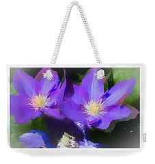 Purple Clementis Weekender Tote Bag