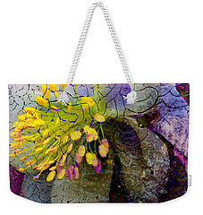 Purple Columbine Weekender Tote Bag by Kathy M Krause