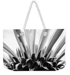 Purple Coneflower In Black And White Weekender Tote Bag