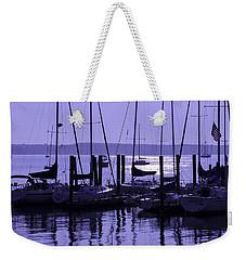 Purple Connecticut Sunrise Weekender Tote Bag