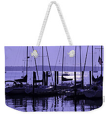 Purple Connecticut Sunrise Weekender Tote Bag by Marianne Campolongo