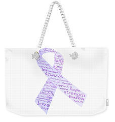 Purple Courage Weekender Tote Bag
