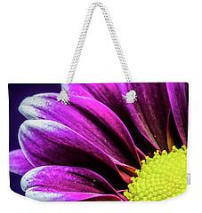 Purple Daisy Being Shy Weekender Tote Bag