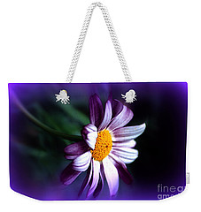 Weekender Tote Bag featuring the photograph Purple Daisy Flower by Susanne Van Hulst