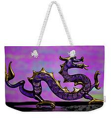Purple Dragon Weekender Tote Bag