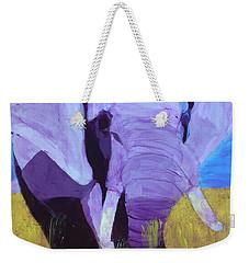 Purple Elephant Weekender Tote Bag
