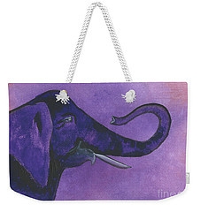 Purple Elephant Weekender Tote Bag