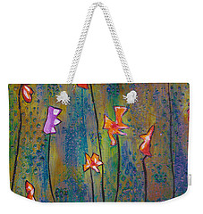 Purple Fields Of Joy Weekender Tote Bag