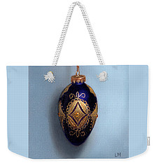 Purple Filigree Egg Ornament Weekender Tote Bag
