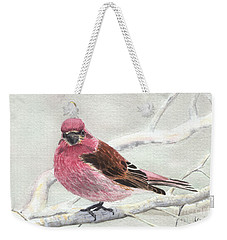 Purple Finch Weekender Tote Bag