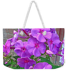 Purple Flame Phlox Weekender Tote Bag