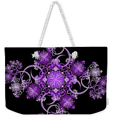 Weekender Tote Bag featuring the photograph Purple Floral Celebration by Sandy Keeton