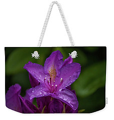 Purple Flower 7 Weekender Tote Bag by Timothy Latta