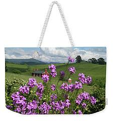 Purple Flower In Landscape Weekender Tote Bag