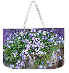 Purple Flower Textured Photo 1028b Weekender Tote Bag