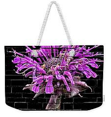 Purple Flower Under Bricks Weekender Tote Bag
