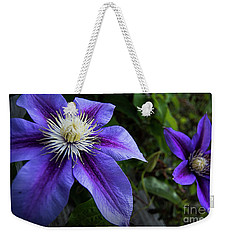Weekender Tote Bag featuring the photograph Purple Flowers by Brian Jones