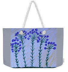 Purple Flowers On Long Stems Weekender Tote Bag